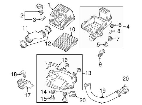 OEM Honda 17228-RW0-A00 - Air Flow Tube