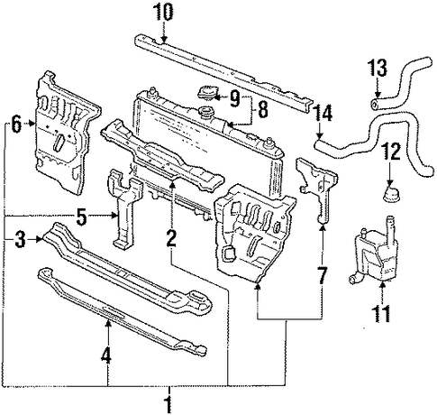 OEM Honda 60434-SF1-G02ZZ - Center Support