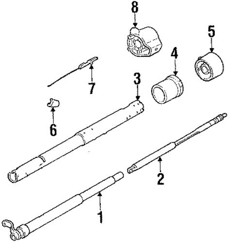 steering column assembly for 1985 chevrolet c  k pickup