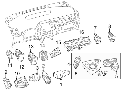 BODY/SWITCHES for 2011 Toyota Prius #1