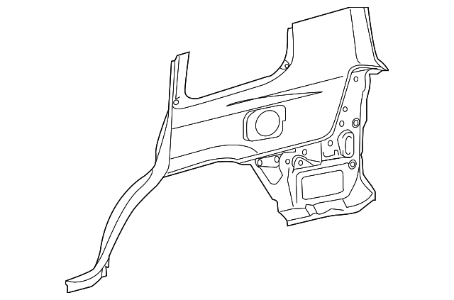Lower Quarter Panel - Toyota (60161-60871)
