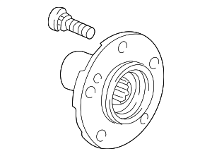 Hub Assembly, Rear - Honda (42210-S2A-000)
