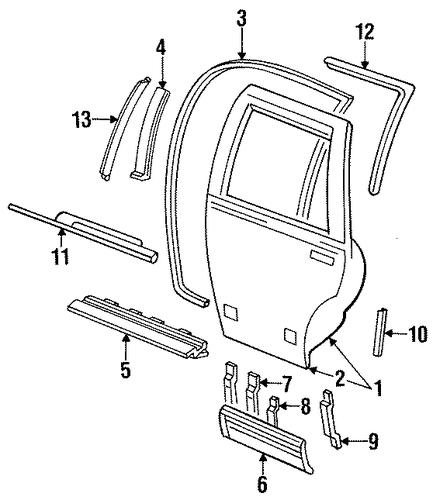 reveal molding for 1994 cadillac fleetwood