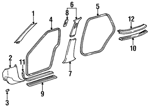 Center Pillar - Toyota (62414-AC010-E1)