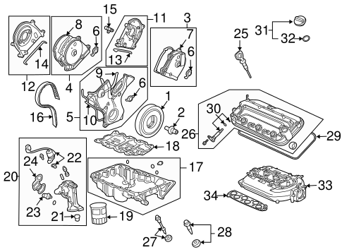 OEM Honda 11830-RCA-A00 - Cover Assembly, Rear Timing Belt (Upper)