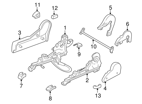 BODY/TRACKS & COMPONENTS for 1996 Toyota RAV4 #1