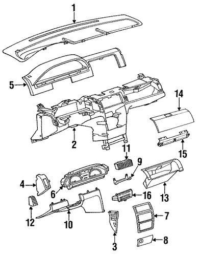 oem instruments  u0026 gauges for 1992 saturn sl1