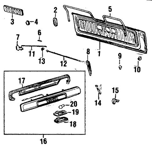 Interior Trim - Toyota (67767-90A00)