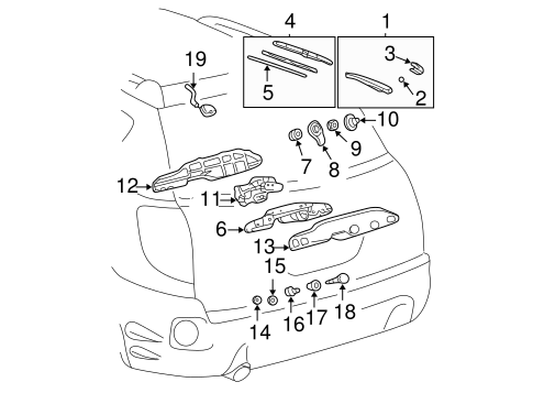 BODY/WIPER & WASHER COMPONENTS for 2005 Toyota Matrix #1