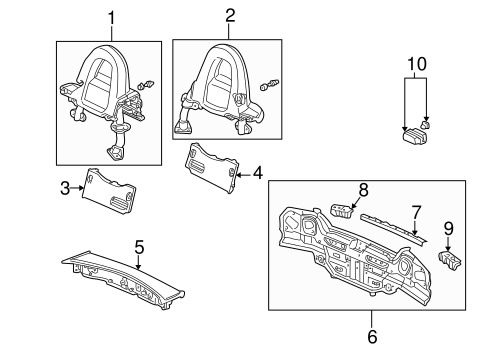 OEM Honda 84515-S2A-010ZC - Roll Bar