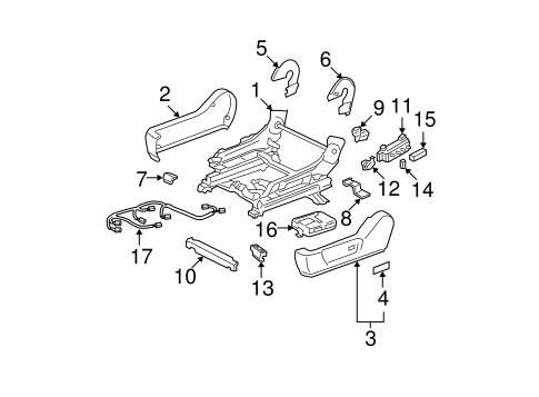 BODY/TRACKS & COMPONENTS for 2002 Toyota Avalon #1