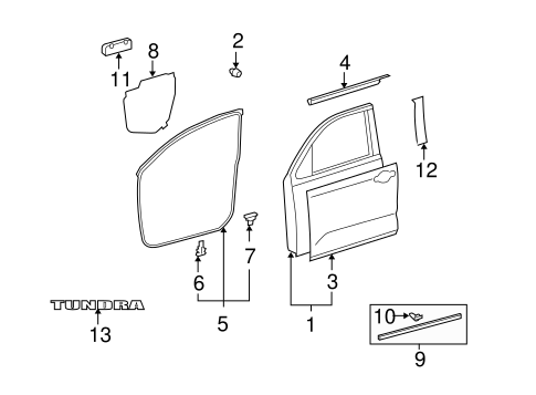 BODY/DOOR & COMPONENTS for 2007 Toyota Tundra #1