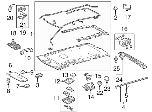 Map Lamp Assembly - Toyota (63650-08611-B0)