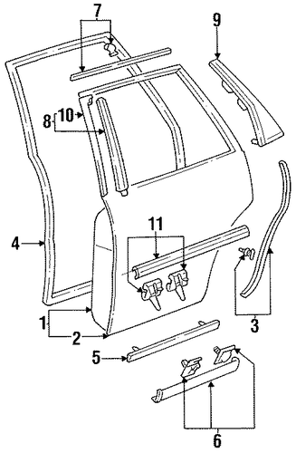 Weather-Strip On Body - Toyota (62331-33060)