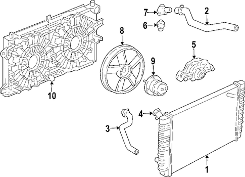 radiator  u0026 components for 2008 pontiac grand prix