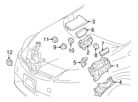 ELECTRICAL/ELECTRICAL COMPONENTS for 2013 Toyota Prius V #4