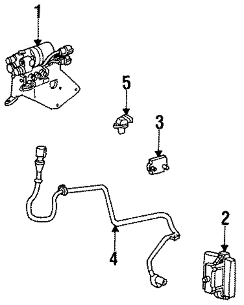 ABS COMPONENTS For 1996 Ford Bronco