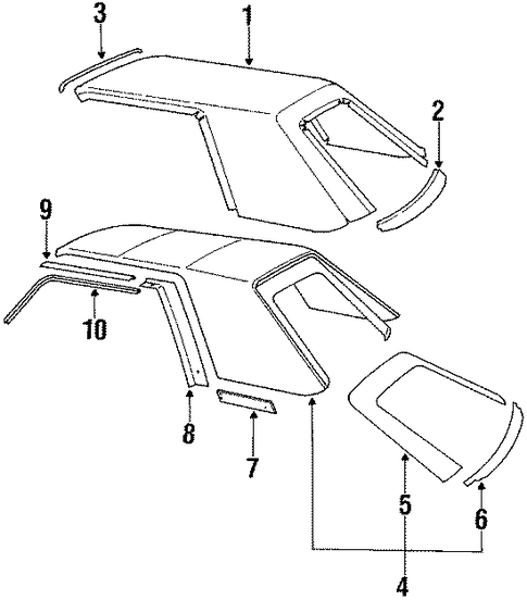 carriage roof for 1984 ford mustang