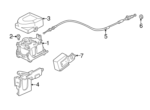 OEM Honda 17921-SA4-730 - Actuator Cable Seal