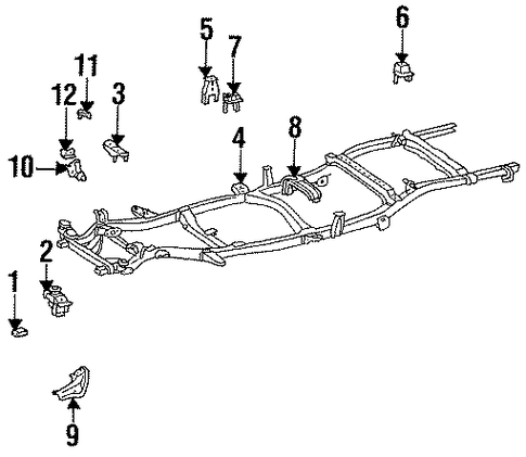 BODY/FRAME for 1997 Toyota T100 #3