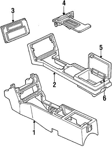 floor console for 1984 pontiac firebird  trans am