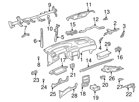 Instrument Panel Center Bracket - Toyota (55308-33050)
