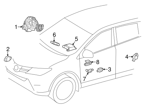 ELECTRICAL/AIR BAG COMPONENTS for 2015 Toyota RAV4 #2