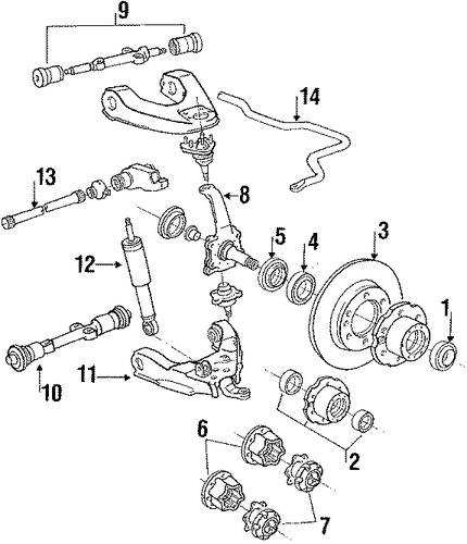 front suspension for 1989 toyota 4runner