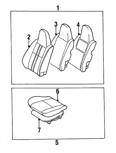 BODY/FRONT SEAT COMPONENTS for 1998 Toyota Tercel #1