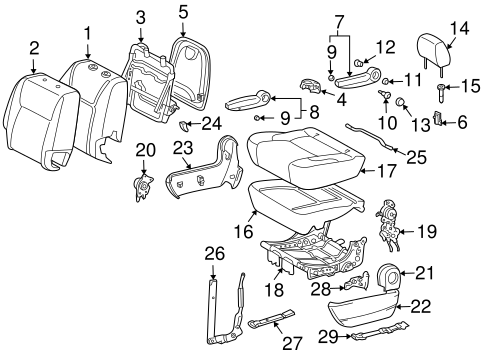 BODY/REAR SEAT COMPONENTS for 2004 Toyota Sienna #6