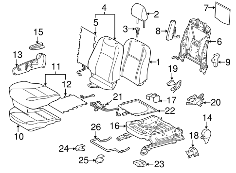 BODY/FRONT SEAT COMPONENTS for 2012 Toyota Prius C #2