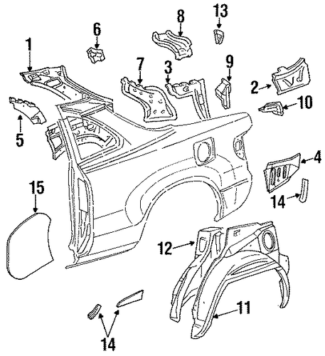 Pkg Tray Support - Toyota (64314-20140)