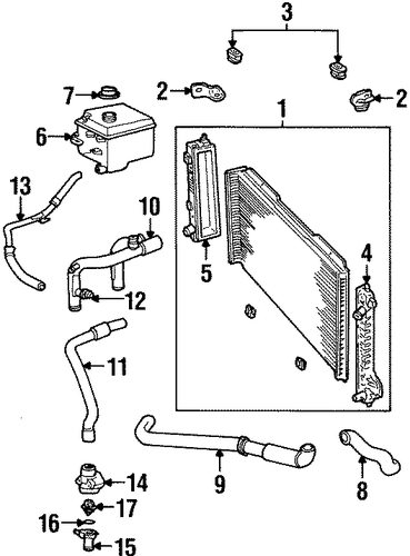 radiator components for 1998 lincoln continental