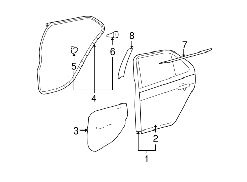 Door Shell - Toyota (67004-52323)