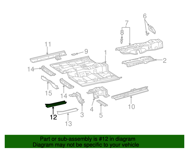 Floor Side Rail Reinforcement - Toyota (57419-06030)