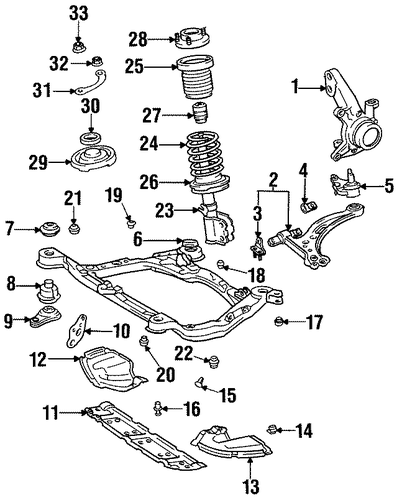 FRONT SUSPENSION/SUSPENSION COMPONENTS for 1999 Toyota Avalon #2