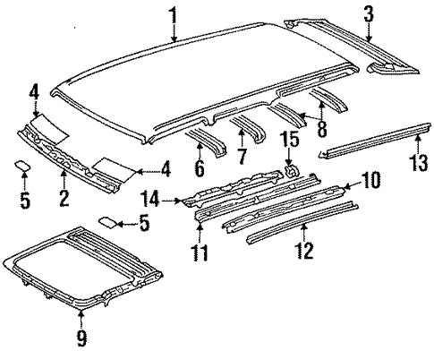 Roof Panel - Toyota (63111-89130)