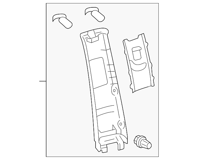 Upper Center Pillar Trim - Toyota (62412-08070-B2)