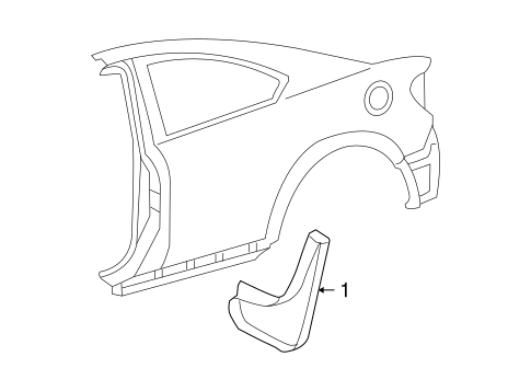 BODY/EXTERIOR TRIM - QUARTER PANEL for 2008 Scion tC #1
