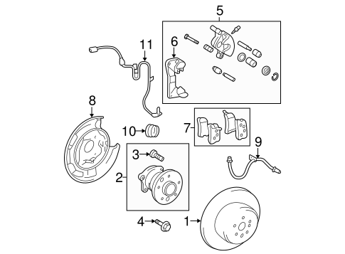 BRAKES/BRAKE COMPONENTS for 2007 Toyota Highlander #2