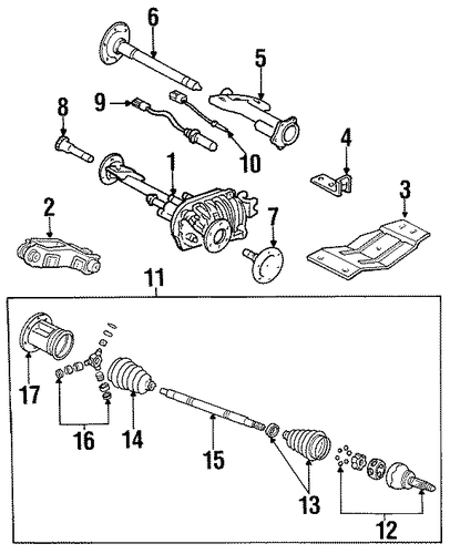 oem carrier  u0026 front axles for 1989 chevrolet k1500 pickup