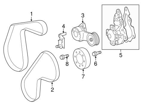 COOLING SYSTEM/BELTS & PULLEYS for 2015 Scion iQ #1