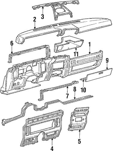 instrument panel for 1986 ford f
