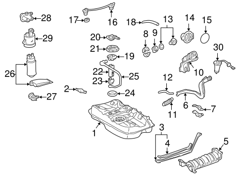 FUEL SYSTEM/FUEL SYSTEM COMPONENTS for 2001 Toyota Camry #1