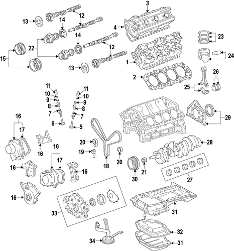 ENGINE/ENGINE for 2007 Toyota Tundra #1