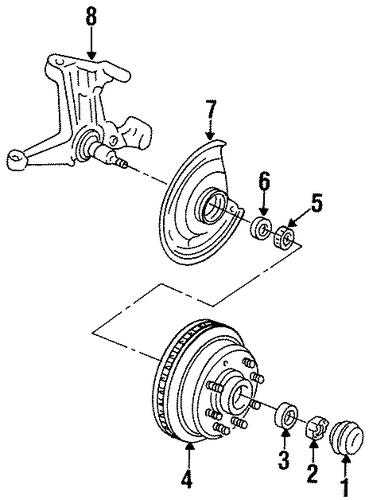 front brakes for 1995 chevrolet g30