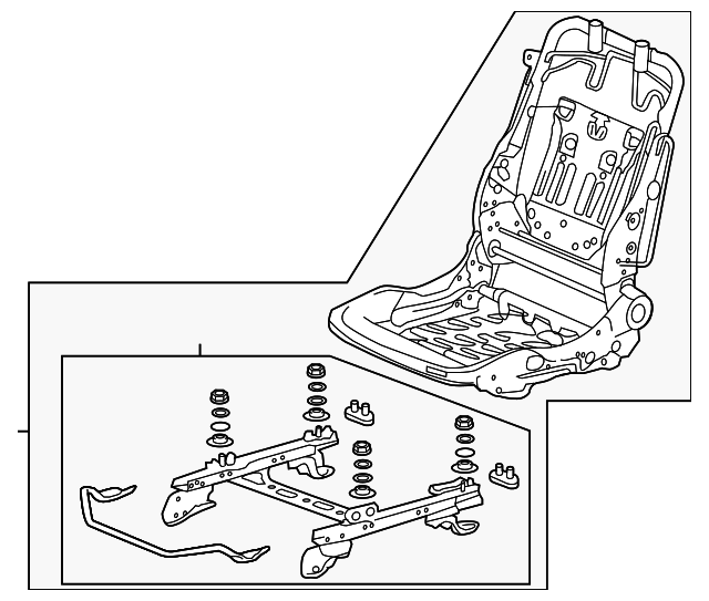 OEM Honda 81126-T2A-A01 - Frame, R Front Seat