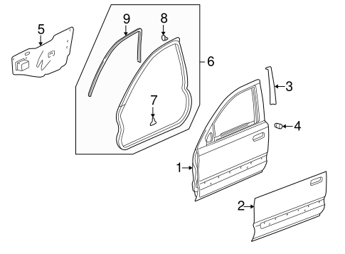 OEM Honda 67366-S10-A01 - Outer Panel Tape