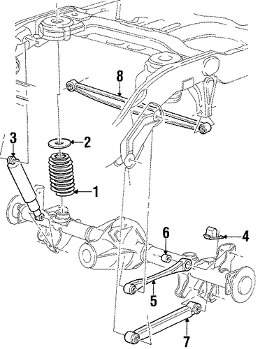 rear suspension for 2000 lincoln navigator