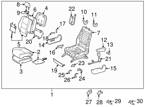 BODY/FRONT SEAT COMPONENTS for 2006 Toyota Highlander #1